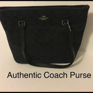 Authentic Black Coach Purse. Great condition.